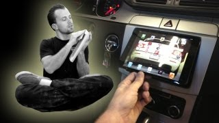 getlinkyoutube.com-Amplified - How to install an iPad mini in the dash of your car, VW CC. Audison Bit Ten D tune Escalade, EP 78
