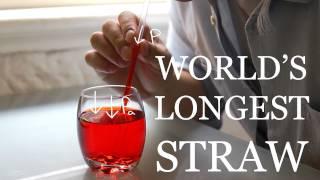 getlinkyoutube.com-World's Longest Vertical Straw