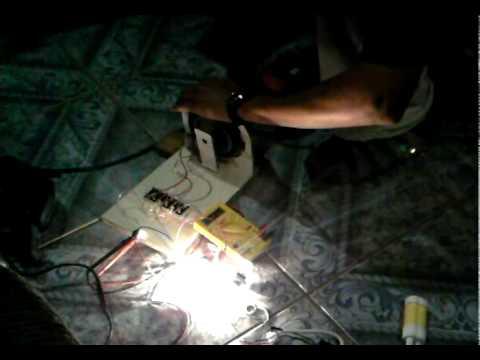 teste 2 (furadeira) gerador elétrico caseiro
