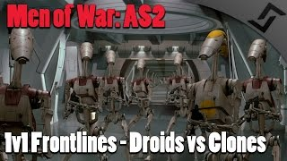 getlinkyoutube.com-Men of War: Assault Squad 2 - 1v1 Multiplayer - Droids vs Clones in Star Wars Galaxy at War Mod