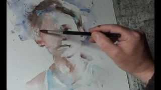 getlinkyoutube.com-Watercolour artist paints a young boy