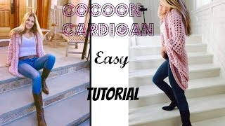 getlinkyoutube.com-Easy Crochet  Cocoon Cardigan Tutorial