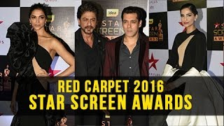getlinkyoutube.com-Deepika Padukone, Salman Khan, Shah Rukh, Sonam Kapoor At Star Screen Awards 2016 Red Carpet