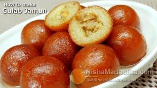 getlinkyoutube.com-Gulab Jamun recipe - Gulab Jamun Recipe with Khoya or mawa - Diwali Special