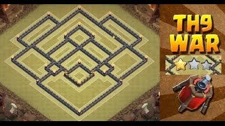 Clash of Clans - (TH9) Best war base/Trophy base 2015 | Anti 2 - 3 stars + Defense Replays