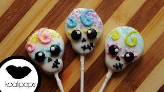getlinkyoutube.com-How to Make Skull Cookie Pops | Become a Baking Rockstar