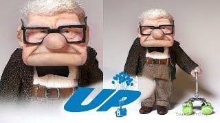 getlinkyoutube.com-Mr. Carl Fredricksen Inspired Doll - Polymer Clay Tutorial (Disney's UP)