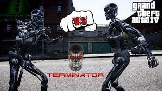 getlinkyoutube.com-T-600 VS T-800 | TERMINATOR FIGHT | GTA IV