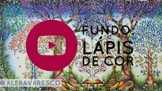 Fundo com Lápis de Cor - Floresta Encantada