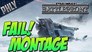 getlinkyoutube.com-Star Wars Battlefront - SNOWSPEEDER Funny Moments & FAIL MONTAGE!