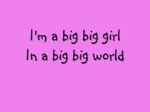 Emilia- Big Big World Lyrics - YouTube
