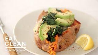 getlinkyoutube.com-Baked Sweet Potato with Avocado - Eat Clean with Shira Bocar