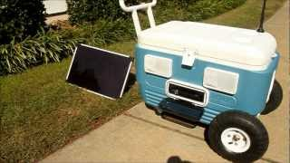 getlinkyoutube.com-Solar Powered Stereo Cooler with Monster Tires and Never Needs to be Plugged In