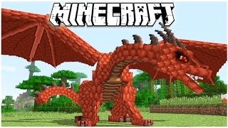 getlinkyoutube.com-MINECRAFT 1.11 RED DRAGON - FLYING MY DRAGON!
