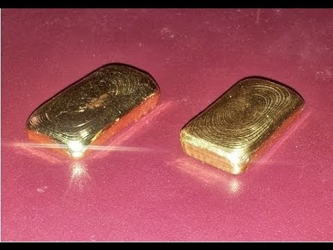 Casting 1 Troy Ounce Gold Bullion Bar (24 Karat)