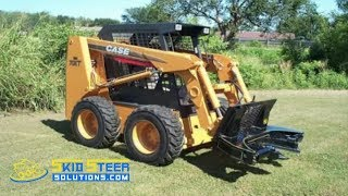getlinkyoutube.com-M&M Hydra Clip Tree Shear Attachment for Skid Steer Loaders - Demo