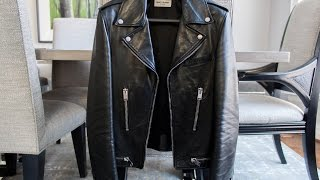 getlinkyoutube.com-Saint Laurent leather biker jacket- Felix Fashion Reviews