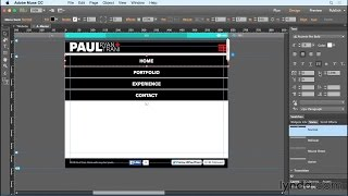 Creating a Mobile Menu in Muse CC