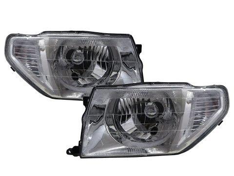 CrazyTheGod Pajero iO/Pinin/TR4 98-15 SUV Clear Headlight Headlamp Chrome for Mitsubishi