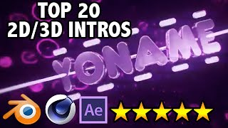 getlinkyoutube.com-TOP 20 FREE 2D & 3D Intro Templates - AFTER EFFECTS, SONY VEGAS, CINEMA 4D, BLENDER