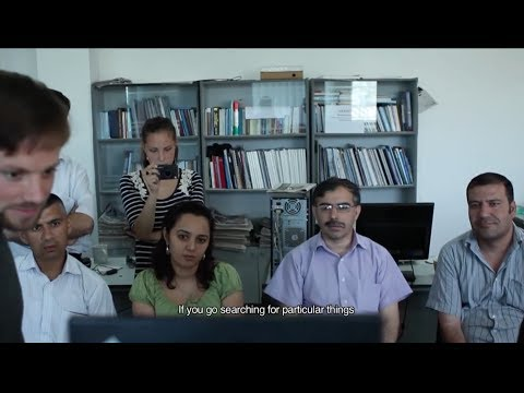 Julian Assange Skypes with Tajik news agency in 2010