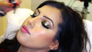 getlinkyoutube.com-Bridal Makeup Tutorial with Glitter