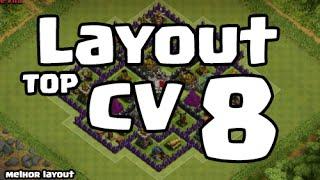 getlinkyoutube.com-MELHOR LAYOUT PARA CENTRO DE VILA 8 ( CV8 ) | Clash Of Clans