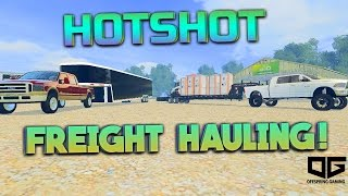 getlinkyoutube.com-Farming Simulator 2015 - Freight Hauling Port o' Potties & Cars!