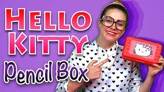 getlinkyoutube.com-Back to School: Hello Kitty Pencil Case Craft & More!