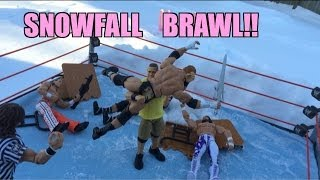 GTS WRESTLING: Snowfall Brawl! WWE Mattel elite action figure matches animations! Figures parody