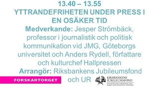 Forskartorget2016 - Yttrandefriheten under press