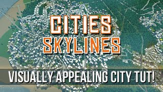 getlinkyoutube.com-Cities: Skylines - Aesthetic City Road Guide!