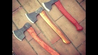 getlinkyoutube.com-My Spoon carving tool kit.  The best Axes, spoon knives, carving knives - by - Woodsmans Finest