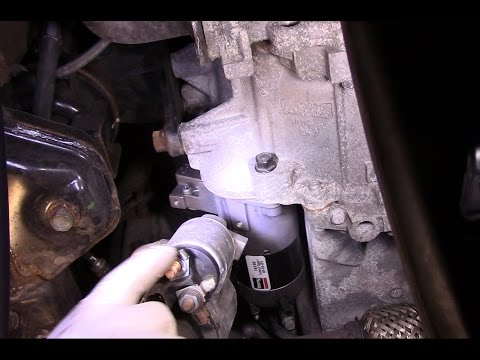 How to replace the starter on a 2007 Hyundai Santa Fe
