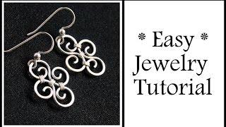 getlinkyoutube.com-Easy Jewelry Tutorial Simple Swirl Earrings : Wire Wrapping for Beginners