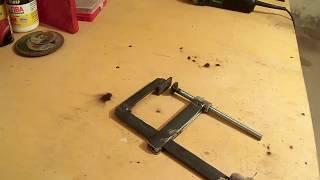 getlinkyoutube.com-Как сделать бюджетную  F-образную струбцину для сварки/For welding clamp F-shaped,,Мастер в доме,,