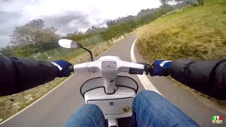 getlinkyoutube.com-On Board 2 • GoPro Hero4 Silver Vespa 50 Special 130 Zirri/Quattrini M1L d.56 -By Niculin93-