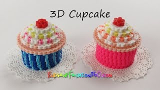 getlinkyoutube.com-DIY Perler/Hama Beads Cupcake 3D - How to Tutorial by Elegant Fashion 360