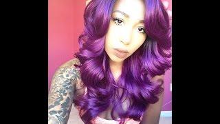 getlinkyoutube.com-PURPLE HAIR  SiS Sister Wigs  Ari Wig Review