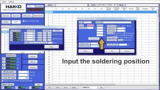 HAKKO Original Software; Easy Programing Software for Auto-Soldering