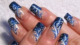 getlinkyoutube.com-Let It Snow by YummyNails Snowy Winter Breeze Design Nail Art Tutorial