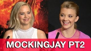 getlinkyoutube.com-The Hunger Games Mockingjay Part 2 Cast Interviews - Jennifer Lawrence, Natalie Dormer