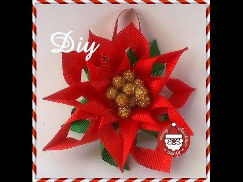 Flor de natal para decorar a árvore DIY \ Christmas flower to decorate the tree DIY