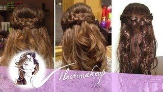 getlinkyoutube.com-Peinado fácil: Semirecogido con ondas y trenzas