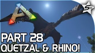 getlinkyoutube.com-WOOLY RHINO TAMING, QUETZAL SIGHTING (And Planning...) - ARK Survival Evolved PS4 Gameplay Part 28