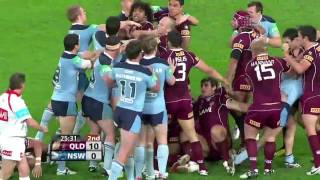 getlinkyoutube.com-Rugby League: State Of Origin 2010 Fight in HD - Game 2 - O'Donnell Fight in HD - NSW V QLD