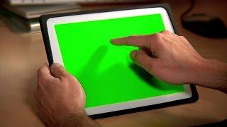 getlinkyoutube.com-Tablet Pc Chroma Key. Stock Footage