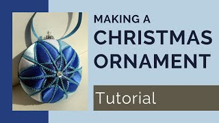 Blue Star No Sew Fabric Christmas Ornament Tutorial