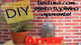 getlinkyoutube.com-Parede Tijolinho Aparente (DIY)