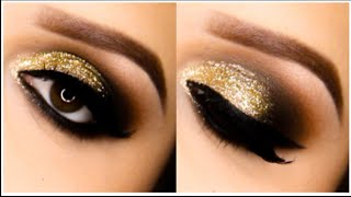 Holiday Glitter Smokey Eye